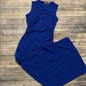 ATHLETA Gorgeous & Comfy Blue Maxi Dress
